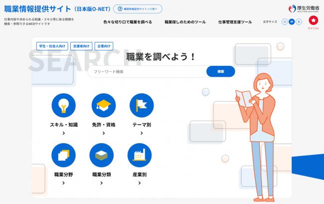 厚生労働省職業情報提供サイト(日本版O-NET)
